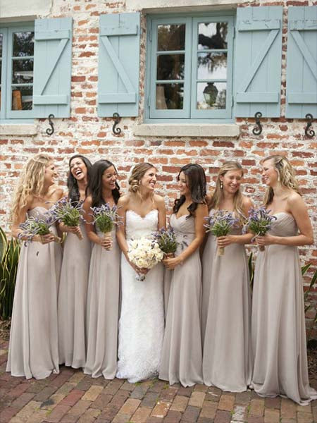 Floor Length Bridesmaid Dresses BM056 - LaRovias