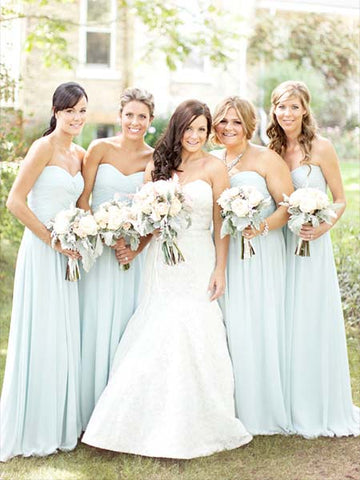 Chiffon Floor Length Bridesmaid Dresses BM058 - LaRovias