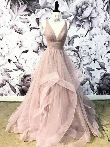 Tulle Prom Dresses Formal Dresses Wedding Party Dresses LPD614 - LaRovias