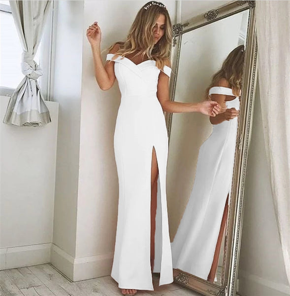 Off the Shoulder Formal Dresses Prom Dresses Wedding Party Dresses LPD627 - LaRovias