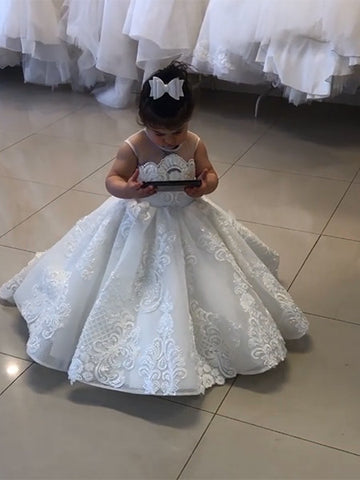 Lace Flower Girl Dresses FG0062 - LaRovias