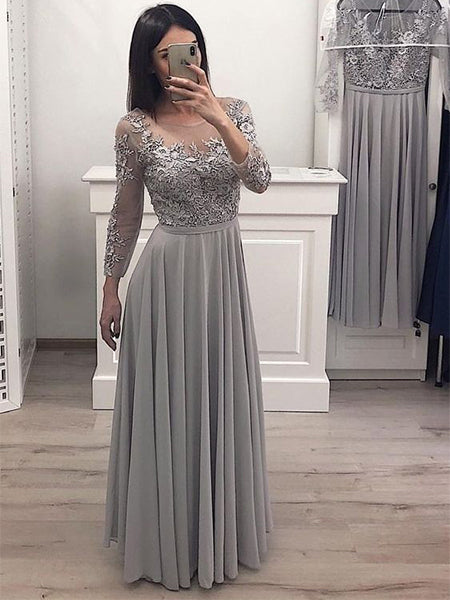 Chiffon and Lace Prom Dresses Wedding Party Dresses LPD647 - LaRovias