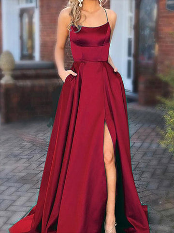 Satin Prom Dresses Graduation Party Dresses Wedding Party Dresses LPD675 - LaRovias