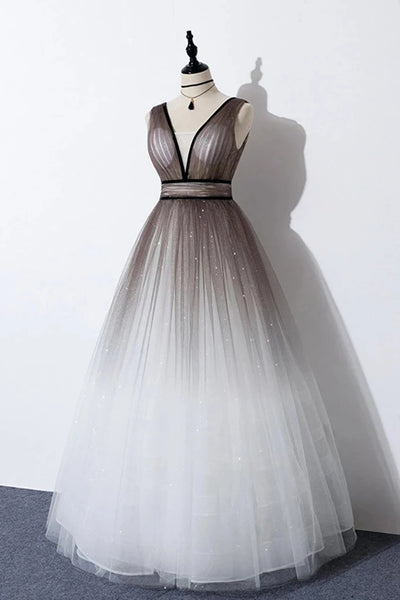 Shiny Tulle Prom Dresses Graduation Party Dresses Wedding Party Dresses LPD677 - LaRovias