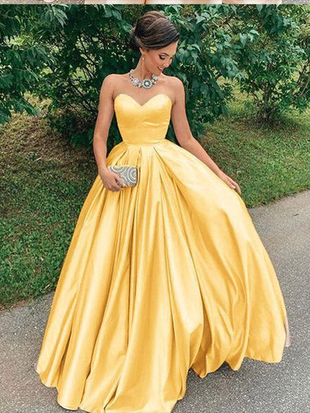 Satin Prom Dresses Graduation Party Dresses Wedding Party Dresses LPD683 - LaRovias