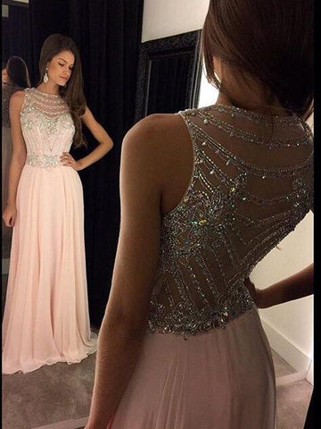 Beaded and Chiffon Formal Dresses Prom Dresses Wedding Party Dresses LPD724 - LaRovias