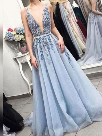 Applique and Tulle Prom Dresses Wedding Party Dresses LPD738 - LaRovias