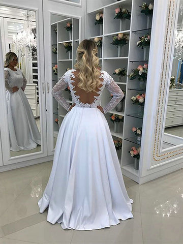 White Prom Dresses Wedding Party Dresses Detachable Skirt LPD749 - LaRovias