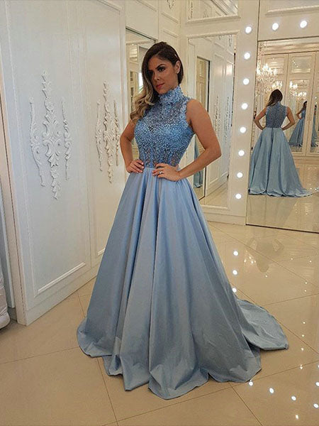 Halter Lace Prom Dresses Wedding Party Dresses LPD759 - LaRovias