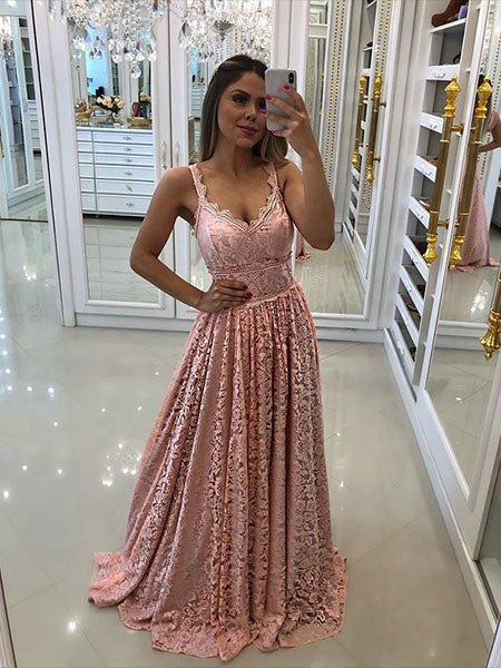 Lace Prom Dresses Wedding Party Dresses LPD761 - LaRovias