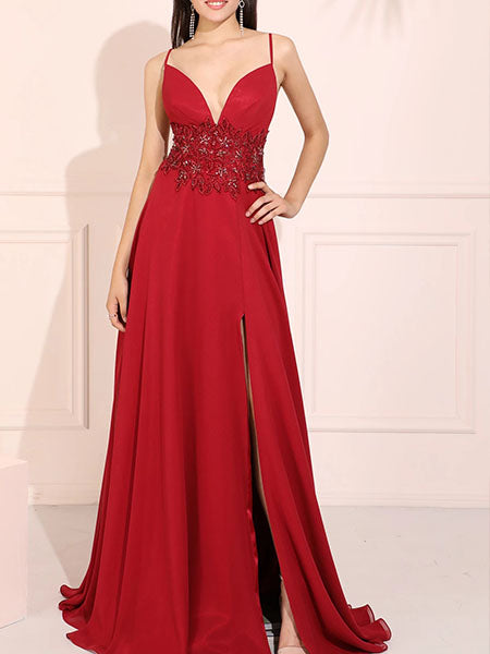 Applique and Chiffon Prom Dresses Wedding Party Dresses LPD766 - LaRovias