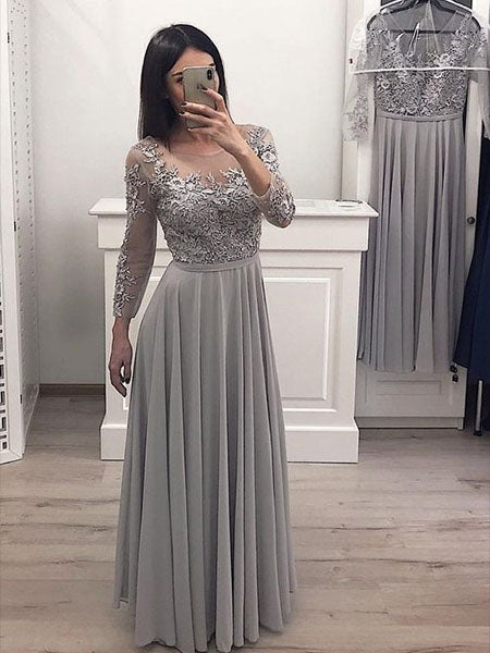 Lace and Chiffon Prom Dresses Wedding Party Dresses LPD769 - LaRovias