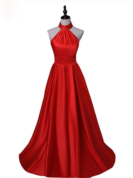 Halter Prom Dresses Wedding Party Dresses LPD786 - LaRovias