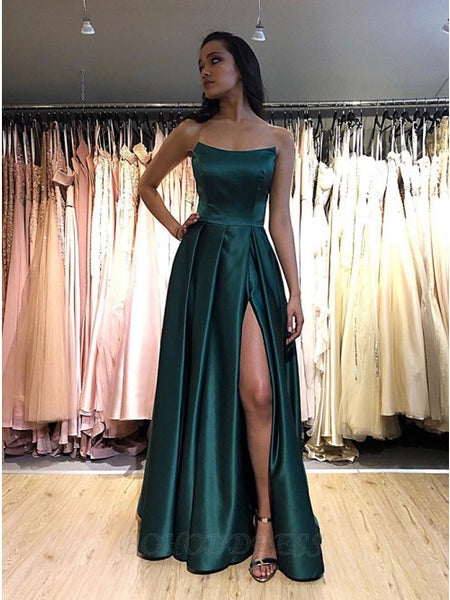 Satin Prom Dresses Wedding Party Dresses LPD789 - LaRovias