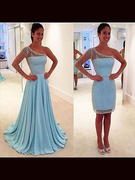 Prom Dresses Wedding Party Dresses with Detachable Skirt LPD803 - LaRovias