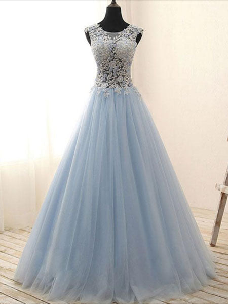 Tulle and Lace Prom Dresses Wedding Party Dresses LPD820 - LaRovias