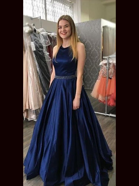 Navy Blue Prom Dresses Wedding Party Dresses LPD841 - LaRovias