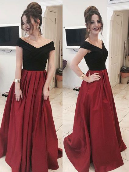 Off the Shoulder Prom Dresses Wedding Party Dresses LPD858 - LaRovias