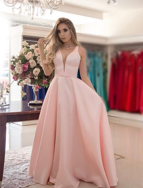 Satin Prom Dresses Wedding Party Dresses LPD866 - LaRovias