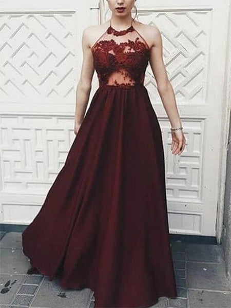 Burgundy Evening Dress Prom Dresses Wedding Party Dresses LPD870 - LaRovias