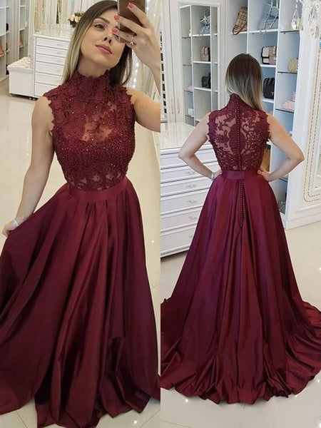 Lace Prom Dresses Wedding Party Dresses LPD881 - LaRovias