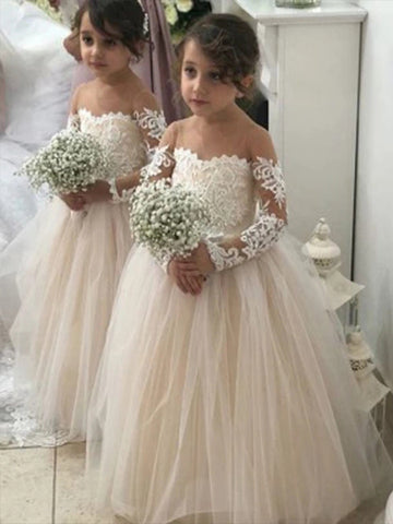 Two Flower Girl Dresses for Christy - LaRovias