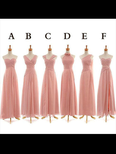 Floor Length Chiffon Bridesmaid Dresses BM009 - LaRovias