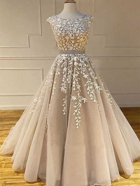 Tulle and Lace Prom Dresses Graduation Party Dresses LPD904 - LaRovias