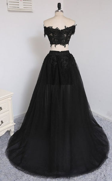 Two Pieces Tulle Prom Dresses Wedding Party Dresses LPD913 - LaRovias