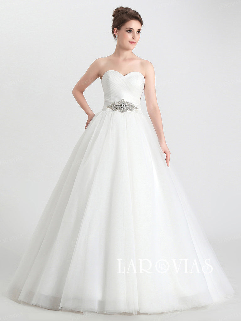 ab481494720445 Princess Style Wedding Dress Ball Gown Bride Dresses LA032 - LaRovias