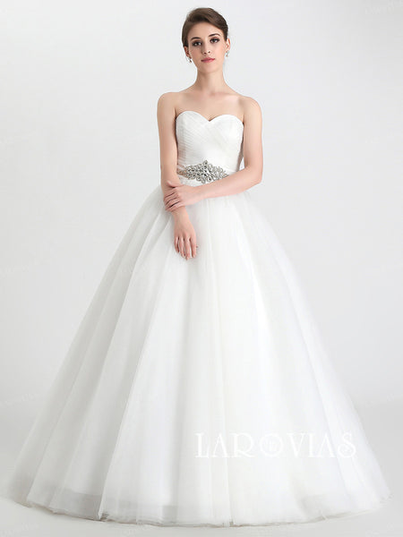 Princess Style Wedding Dress Ball Gown Bride Dresses LA032 - LaRovias