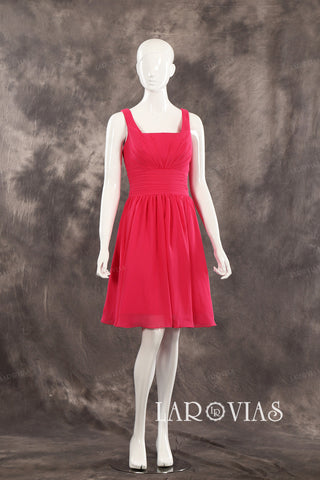 Short Red Homecoming Dress Bridesmaid Dresses PR506 - LaRovias