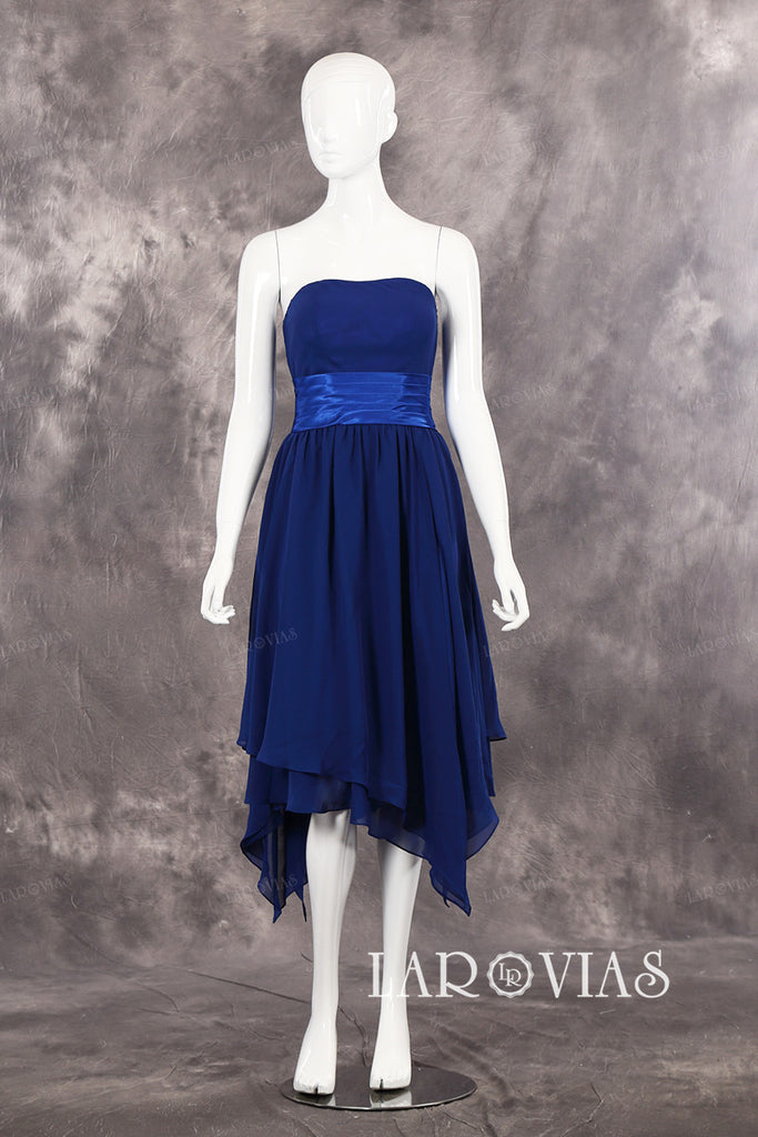 Short Blue Prom Dress Short Homecoming Dresses Bridesmaid Dress PR549 - LaRovias
