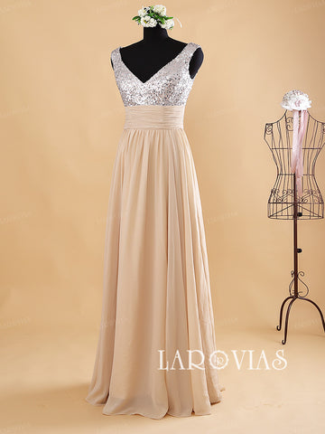 V Neckline Prom Dress Bridesmaid Dresses WD188 - LaRovias