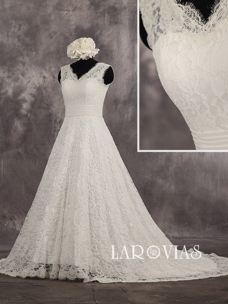 Lace Wedding Dress WD254 - LaRovias