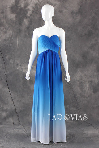 Strapless Chiffon Bridesmaid Dresses bb0002 - LaRovias