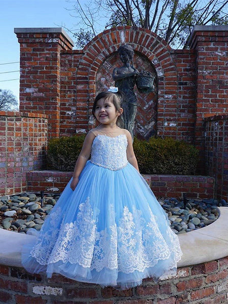 Tulle and Lace Flower Girl Dresses FG0064 - LaRovias