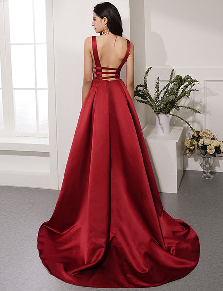 Burgundy Prom Dresses Graduation Party Dresses Formal Dresses LPD006 - LaRovias