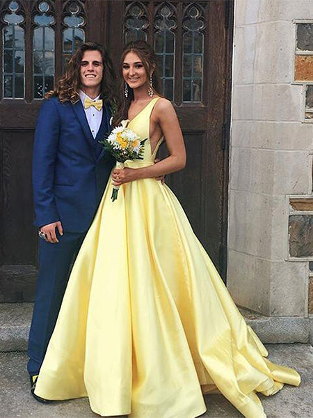 Satin Prom Dresses Party Dresses Formal Gowns  LPD039 - LaRovias