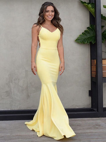 Sexy Mermaid Prom Dresses Party Dresses Formal Gowns with Spaghetti Straps LPD041 - LaRovias
