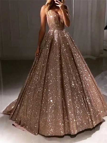 A Line Sparkling Prom Dresses Formal Dresses Wedding Party Dresses LPD054 - LaRovias