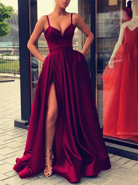 Sexy Prom Dresses Party Dresses Formal Gowns with Spaghetti Straps LPD056 - LaRovias