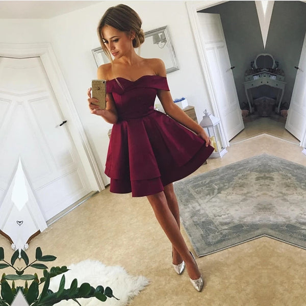 Off the Shoulder homecoming Dresses LPD061 - LaRovias