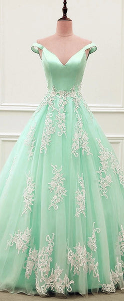 Off the Shoulder Lace Prom Dresses Weddig Party Dresses Formal Gowns LPD070 - LaRovias