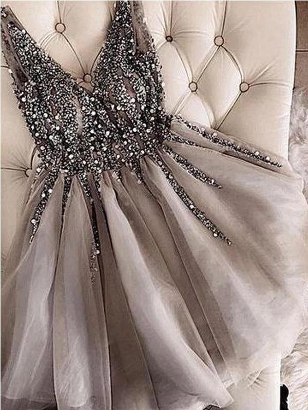 Beaded Homecoming Dresses Party Dresses LPD080 - LaRovias