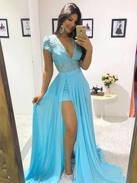 Chiffon Prom Dresses Formal Dresses Wedding Party Dresses LPD343 - LaRovias