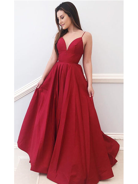 Prom Dresses Formal Dresses Wedding Party Dresses with Spaghetti Straps LPD345 - LaRovias