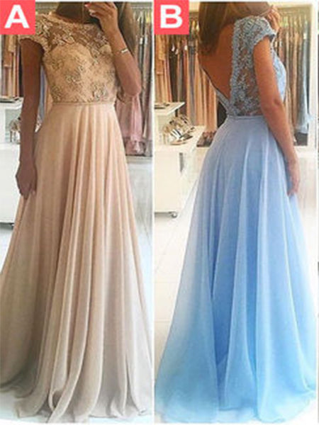 Chiffon and Lace Prom Dresses Formal Dresses Wedding Party Dresses LPD350 - LaRovias