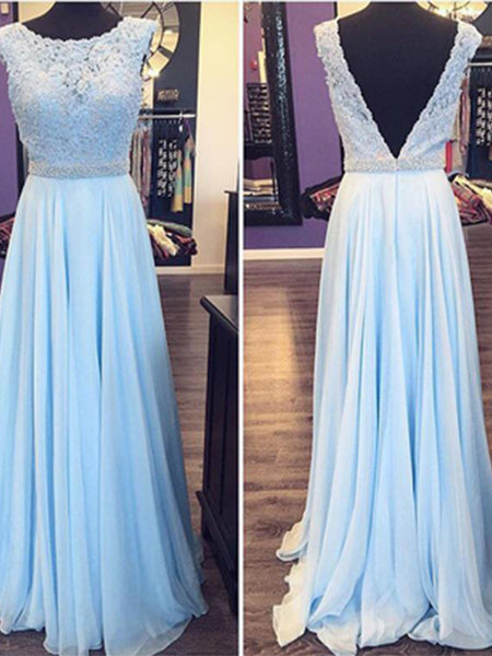 Chiffon and Lace Prom Dresses Formal Dresses Wedding Party Dresses LPD351 - LaRovias