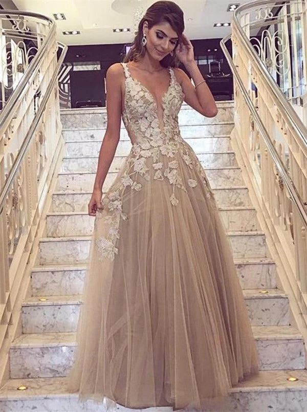 Chiffon and Lace Prom Dresses Formal Dresses Wedding Party Dresses LPD364 - LaRovias